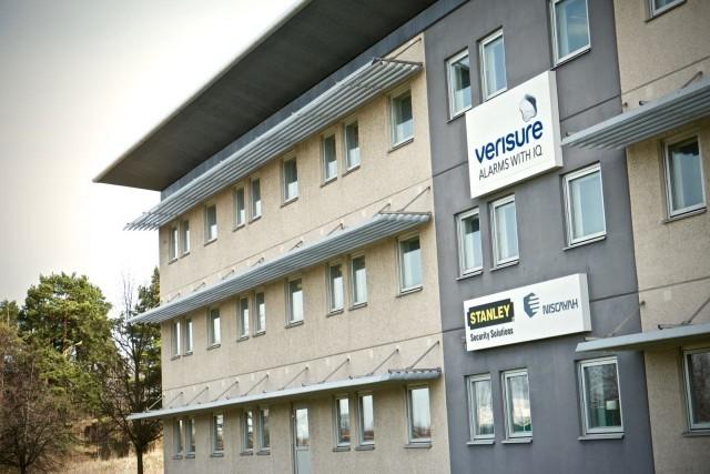 Byggnaden som inrymmer larmcentralen hos Verisure i Linköping är minst sagt anonym.
