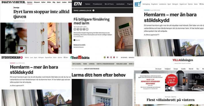 Larmkollen i media